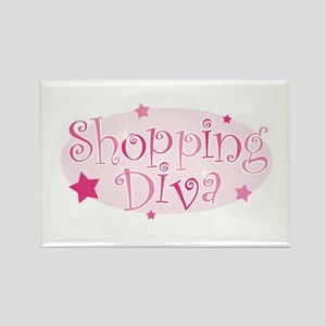 """Shopping Diva"" [pink] Rectangle Magnet"